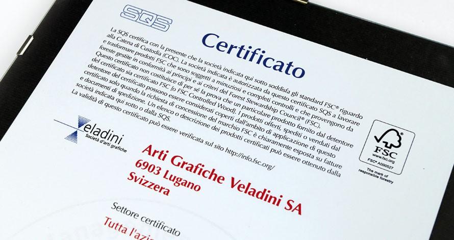 Certificato FSC Veladini